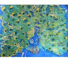 Batik Peacock Photographic Print