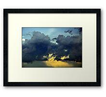 heavy with rain Framed Print
