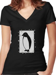 Penguin Superstar Women's Fitted V-Neck T-Shirt