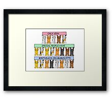 Cats celebrating birthdays on March 27th. Framed Print