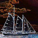 Sailing ship abstract photography by Vitaliy Gonikman