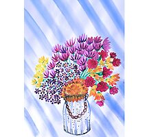 Pretty Flowers in a vase Photographic Print