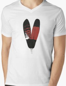 Red-Tailed Black Cockatoo Feathers Mens V-Neck T-Shirt