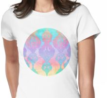 The Ups and Downs of Rainbow Doodles Womens Fitted T-Shirt