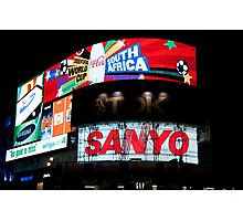 Night Time Billboard Photographic Print