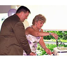 Cake cutting Photographic Print