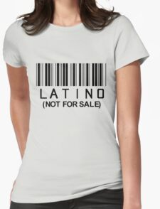 Latino Barcode Womens Fitted T-Shirt