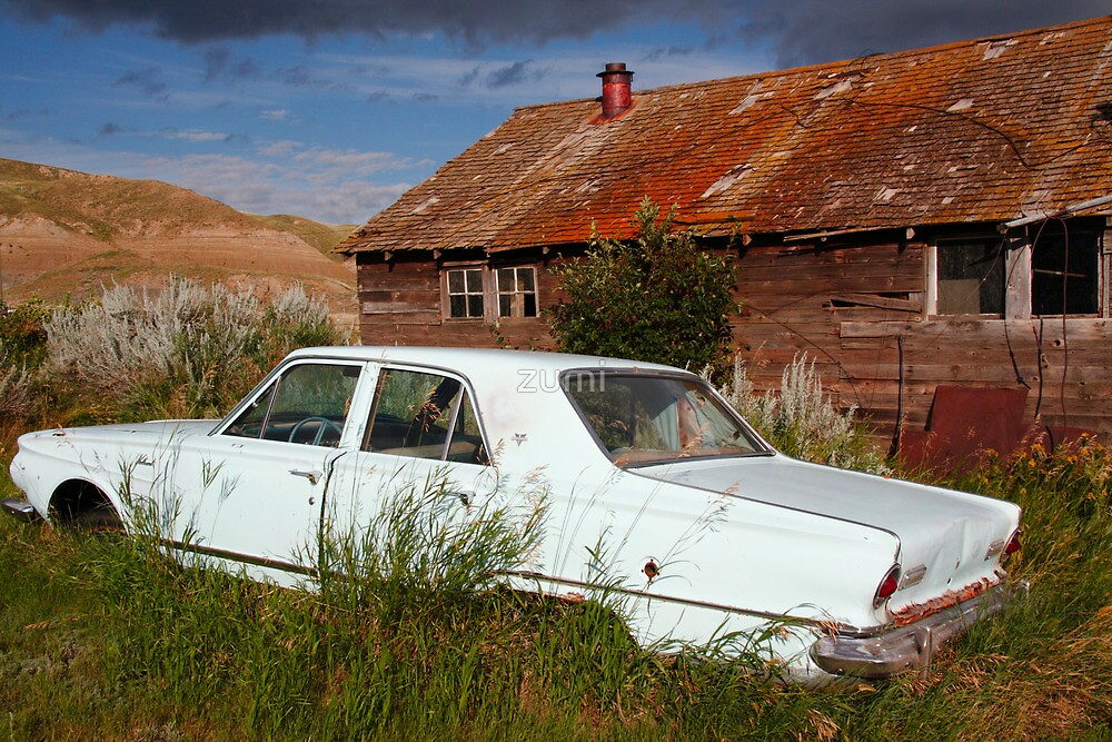 Old car, old house by zumi