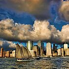 Low Clouds Over Lower Manhattan by Scott  Hudson