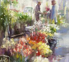 Marche Raspail .....magasin de la fleur by vasenoir