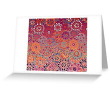 Psychedelic Ombre Flower Doodle Greeting Card