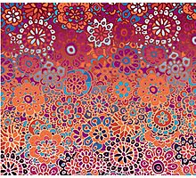 Psychedelic Ombre Flower Doodle Photographic Print
