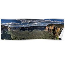 Govetts Leap Lookout | Grose Valley | Blue Mountains Australia Poster