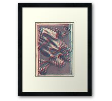 Skull with ribbon  Framed Print