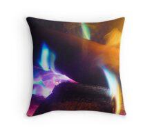 burning rainbow Throw Pillow