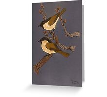 Great Willow Tits Greeting Card