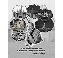 Walt Disney's Dreams Photographic Print