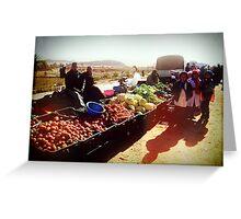 Beautiful Algeria - Village Market Greeting Card