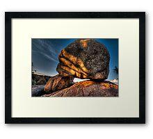 AlienHead Rock Framed Print