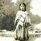 Her Know, A Native American Indian Child, USA ca. 1899 by Dennis Melling