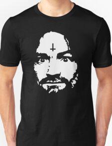 Charles Manson - Manson Silhouette  - black / white T-Shirt