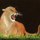 Mountain Lions Rage by Dawn B Davies-McIninch