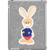hare. bunny on a gray background iPad Case/Skin