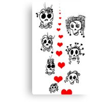 Skellie Love Canvas Print