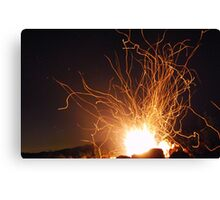Campfire and Stars Canvas Print