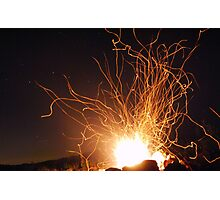 Campfire and Stars Photographic Print
