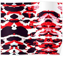 Abstract Army Pattern in Red Poster