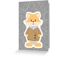 foxes on a gray background Greeting Card
