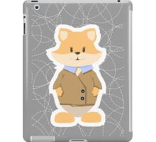 foxes on a gray background iPad Case/Skin
