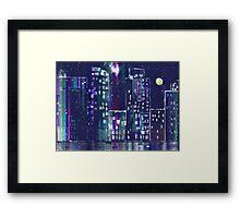 Rainy Night In The City Framed Print