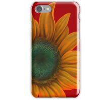 red sunflower iPhone Case/Skin