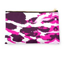 Abstract Army Pattern in Pink Studio Pouch