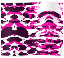 Abstract Army Pattern in Pink Poster