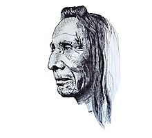 Old Indian Man Photographic Print