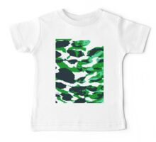 Abstract Army Pattern in Baby Tee