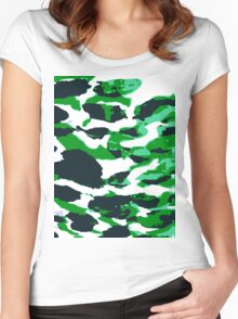 Abstract Army Pattern in Women's Fitted Scoop T-Shirt