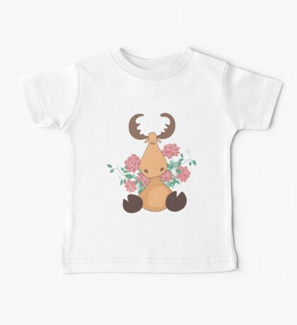 Deer with flowers Baby Tee