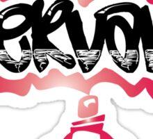 Girls Servant Heart Graph Design Sticker