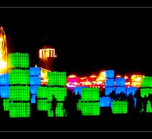 Cubist Lights and Fairground by Tim Topping