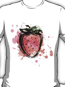 Strawberry made of colorful splashes T-Shirt