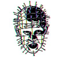 Psychedelic Pinhead  Photographic Print