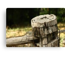 Farm Fence Post - Healesville Canvas Print