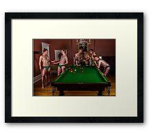 Pool for the pool boys Framed Print