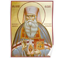 St Nicholas the Confessor of Alma Ata and Kazakhstan Poster