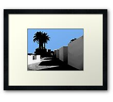 palm trees graphic Framed Print
