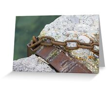 old rusty chain Greeting Card